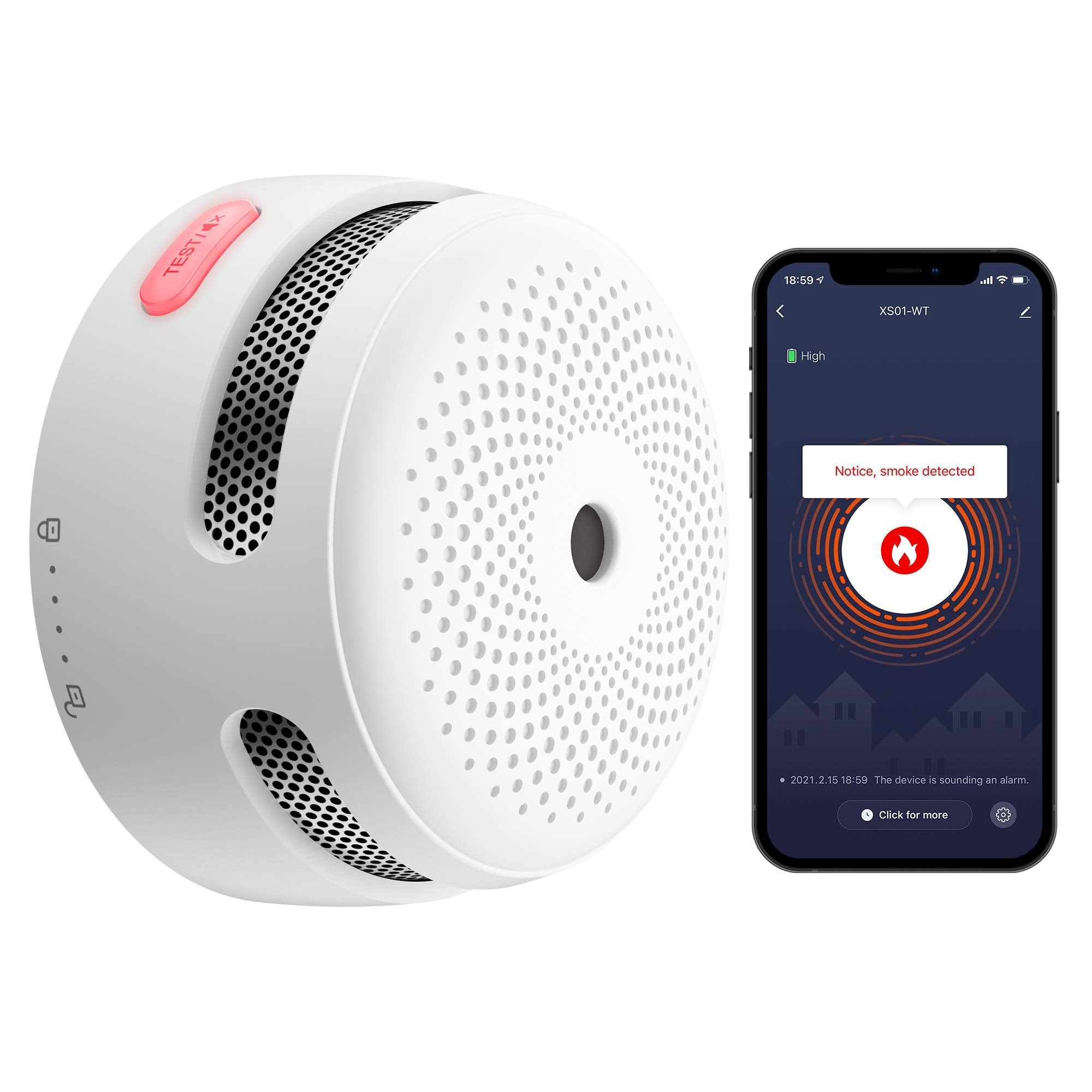 x-sense xs01-wt wireless interconnected smoke detector