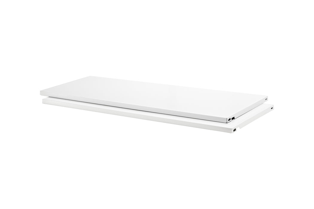 Dolle PrimeSlot Steel Shelf White (2-Pack)