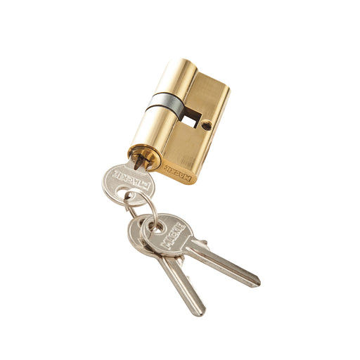 Mackie Security Profile Cylinder Brass Plated