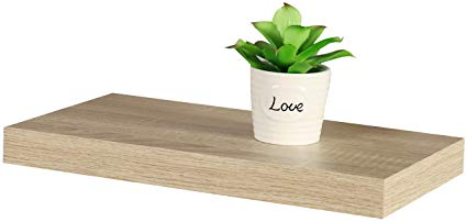 Floating Shelf Light Oak 38mm