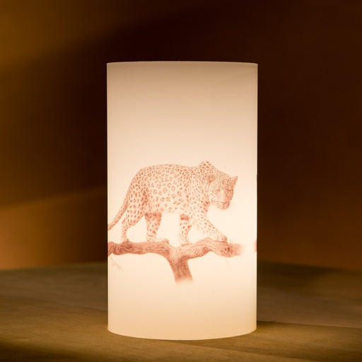 African Fine Art Candle Shade Pencil Leopard 140MM