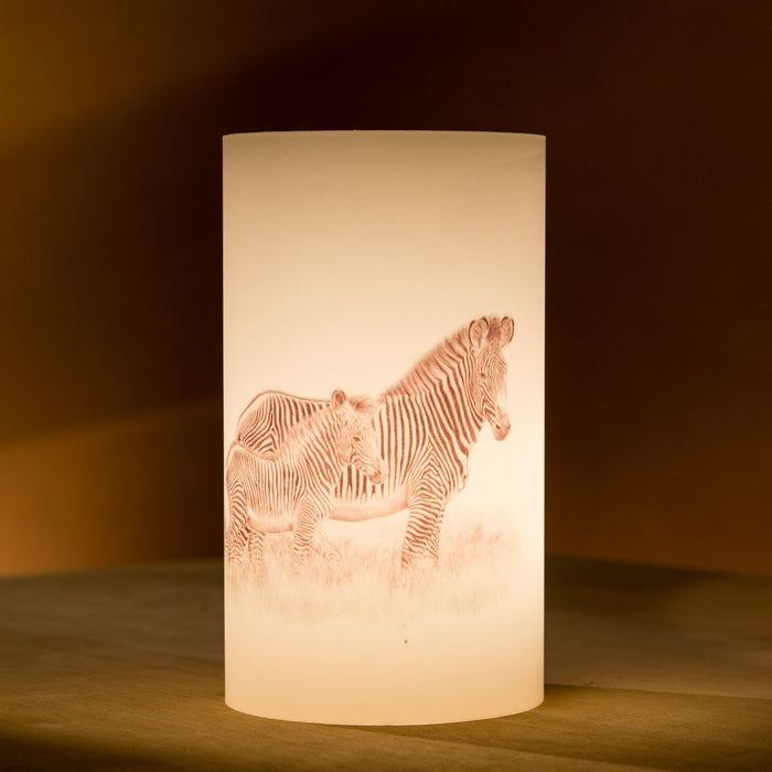 African Fine Art Candle Shade Pencil Zebra 140MM