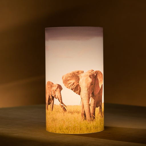 African Fine Art Candle Shade Colour Elephants 140MM
