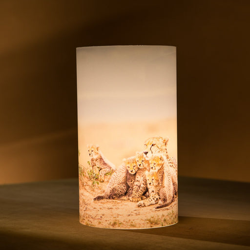 African Fine Art Candle Shade Colour Cheetah 140MM