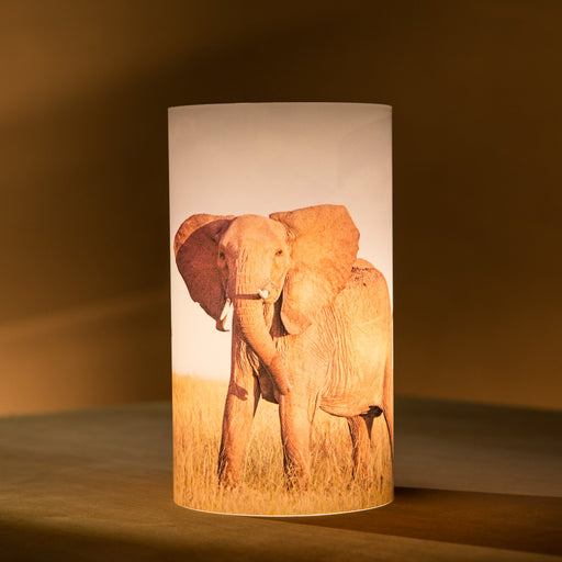 African Fine Art Candle Shade Colour Elephant 140MM