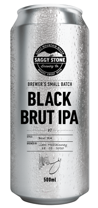 Saggy Stone Black Brut IPA 500ml