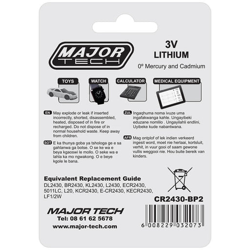 Major Tech 3V Lithium Button Cells