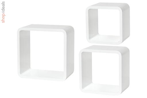 Dolle Shelf+ Softcube Set High Gloss White 3 Piece