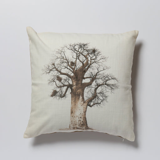 African Fine Art Cushion Cover Baobab Tree 05