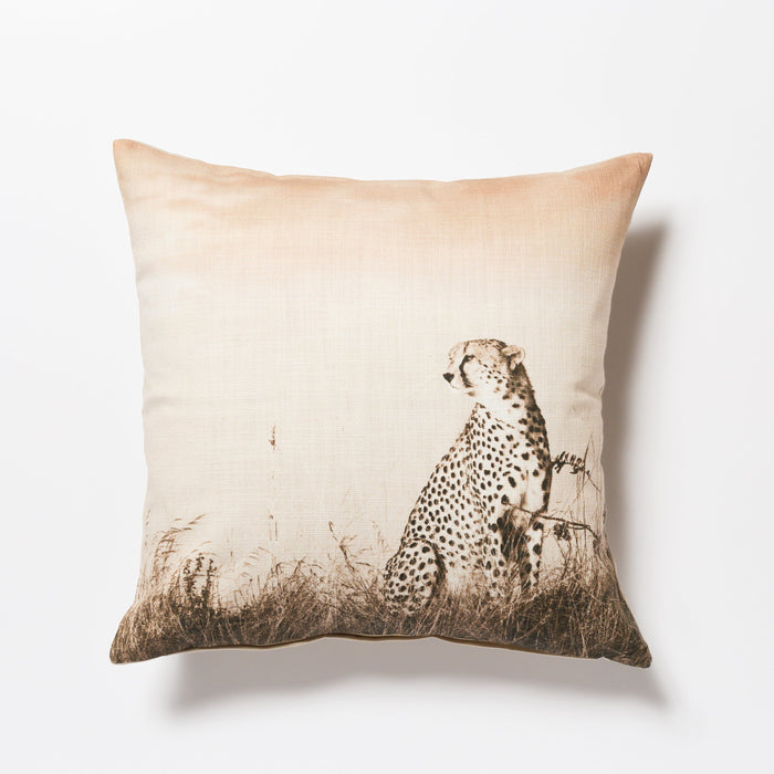 African Fine Art Cushion Cover Cheetah