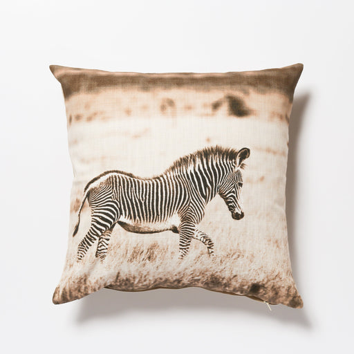 African Fine Art Cushion Cover Zebra Baby