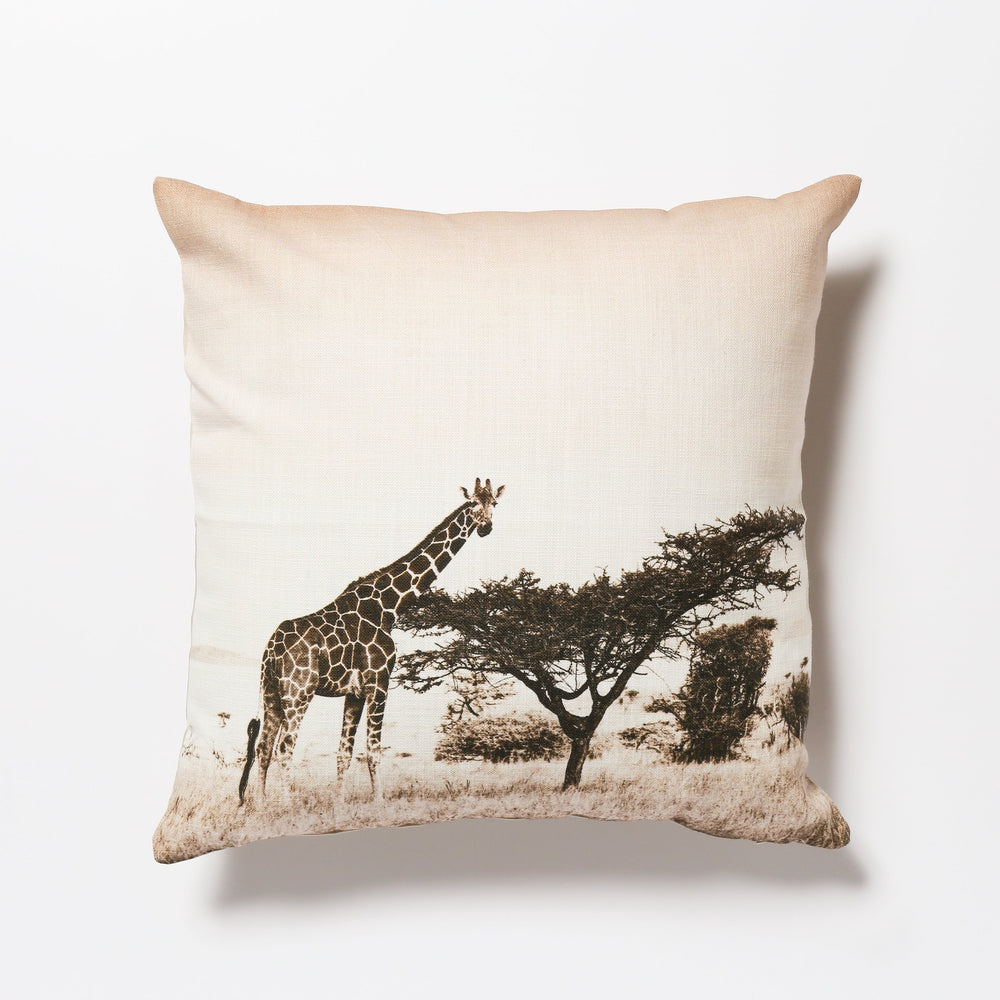 African Fine Art Cushion Cover Giraffe