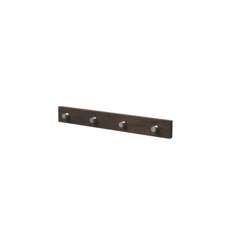 Hello Home Coat Hanger With Hooks Dark  Wood