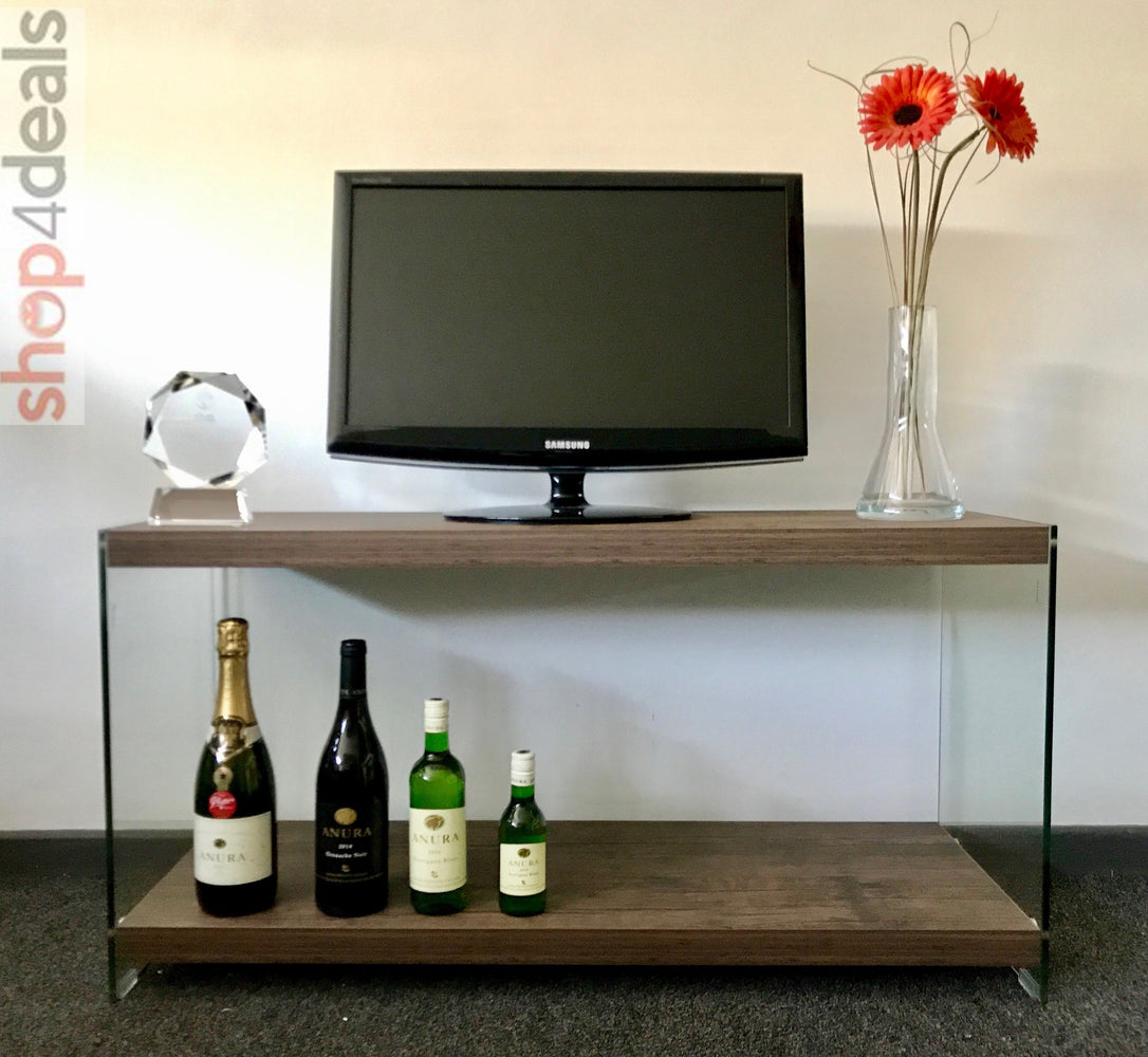 Hello Home Television Stand Dark Wood