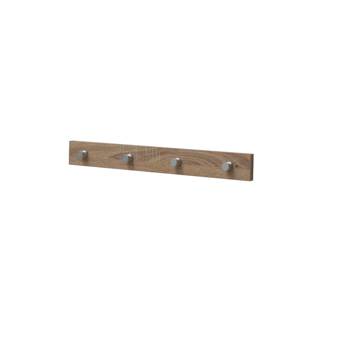 Hello Home Coat Hanger With Hooks Washed Oak