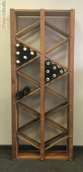 Hello Home Meranti Wooden Wine Rack