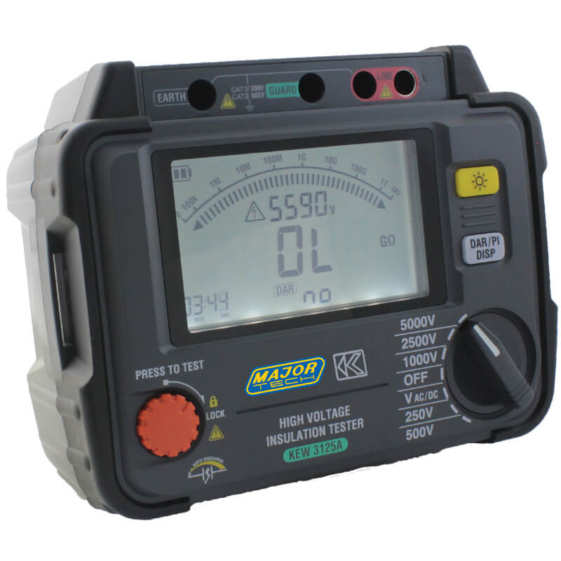 Major Tech Digital Insulation Tester 500V-5kV High Voltage