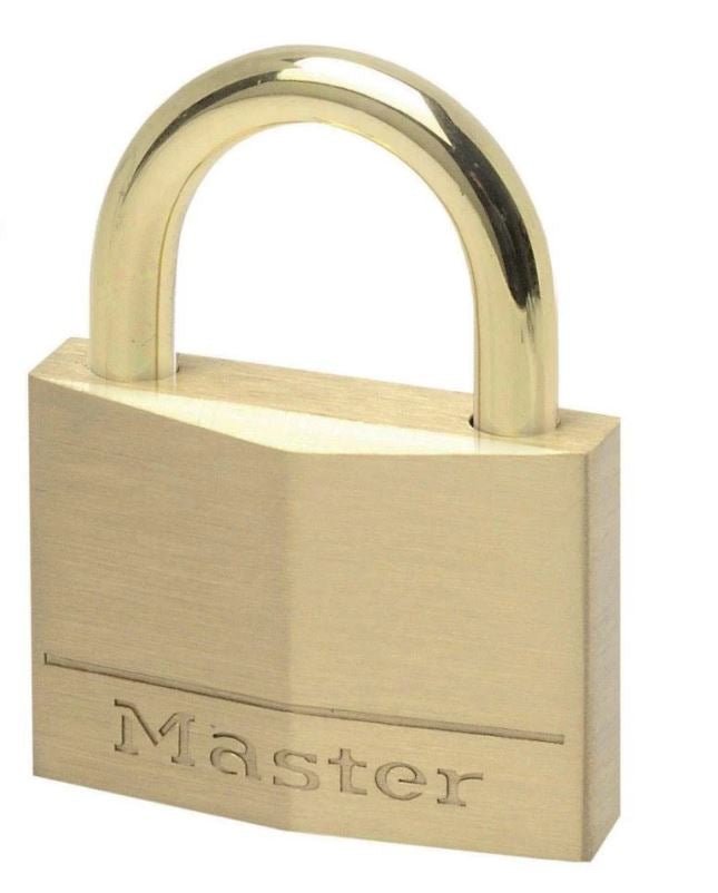 Master Lock Brass Padlock with Brass Shackle