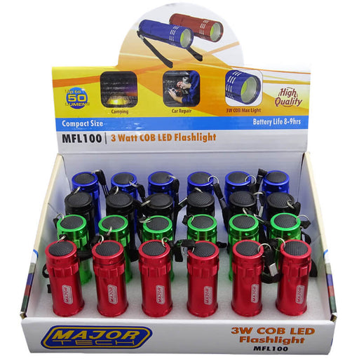 Major Tech LED Flashlights (Box of 24)