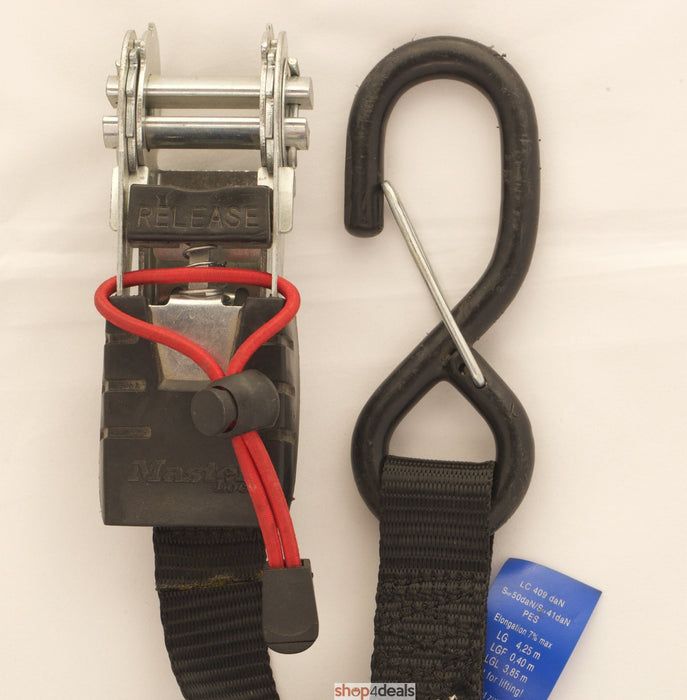 Master Lock Cargo Strap Tie Down Two Pack With Rachet 5000MM