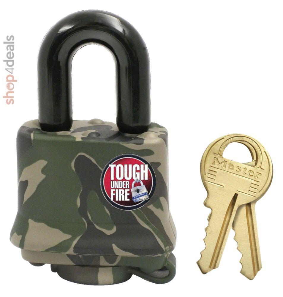 Master Lock Laminated Steel Padlock Camo Weather Cover