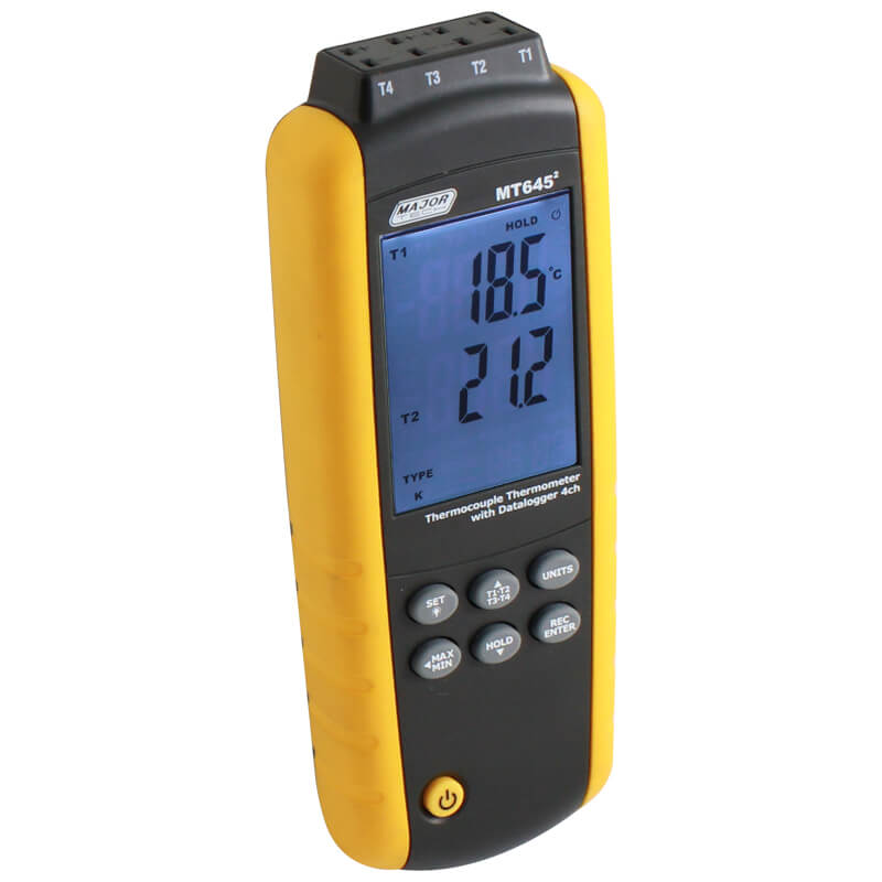 Major Tech Four Channel Digital Thermometer Data Logger