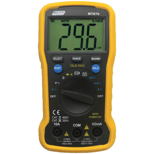 Major Tech Digital Multimeter 10A AC/DC TRMS