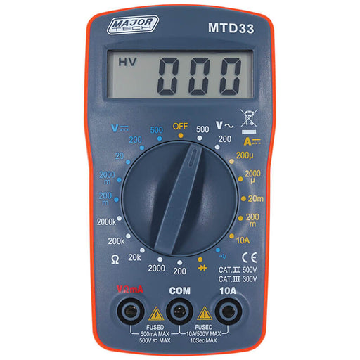 Major Tech 2000 Count Digital Multimeter