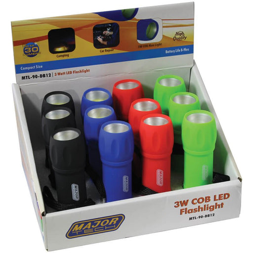 Major Tech Flashlight 3W COB LED