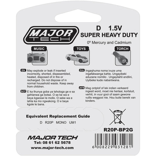 Major Tech D Super Heavy Duty Batteries