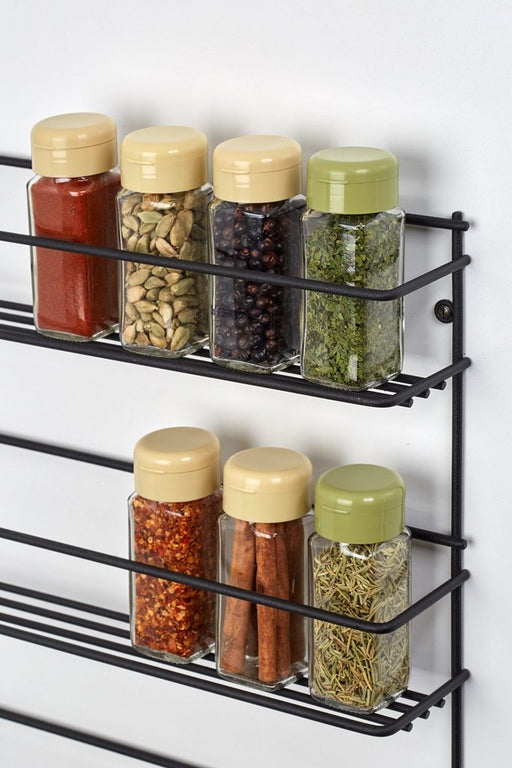 Spice rack - three tier (wall mounted) Matt Black, Spice rack - three tier (wall mounted) Matt Black, Kitchen Ware, Steelcraft, steelcraft.co.za , www.steelcraft.co.za
