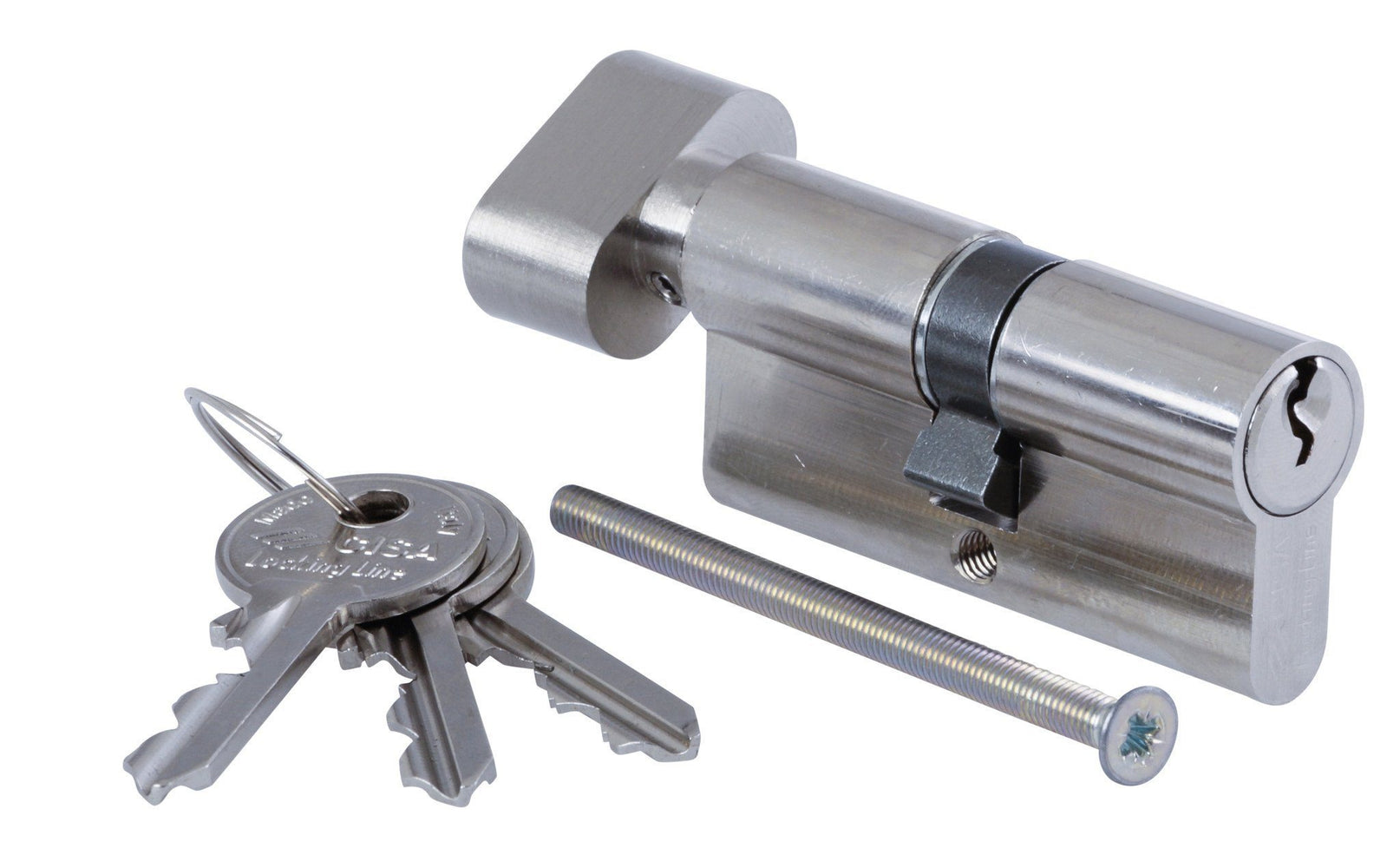 Security CISA Euro Cylinder Thumbturn Nickel Plated 56mm