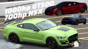 1000hp GT500 vs 700hp ACURA NSX - BLOWN ENGINE?