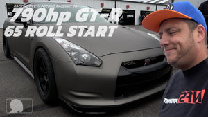 790hp GT-R 65mph Roll Start @ Race Motive Pocono