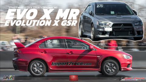 302hp Evolution X MR vs Evo X GSR