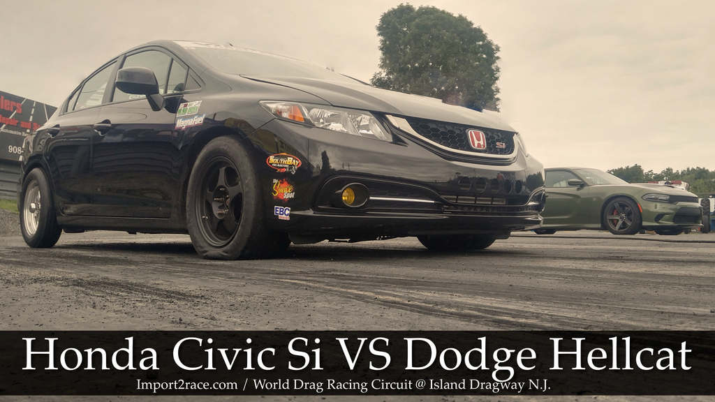 FWD Honda Civic Si vs RWD Dodge Hellcat