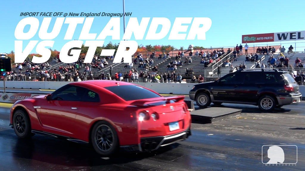 Mitsubishi Outlander running consistent 10sec vs Modified Nissan GT-R