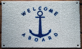Quik•Marine Dock Boarding Mat - Welcome Aboard
