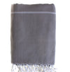 cotton_hammam_ Sofa _throw_Charcoal grey