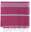 cotton_hammam_ Sofa _throw _fuchsia