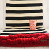 Casta- Lambswool Sofa Throw - Black and White