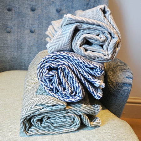 Chevron- Cotton Sofa Throw