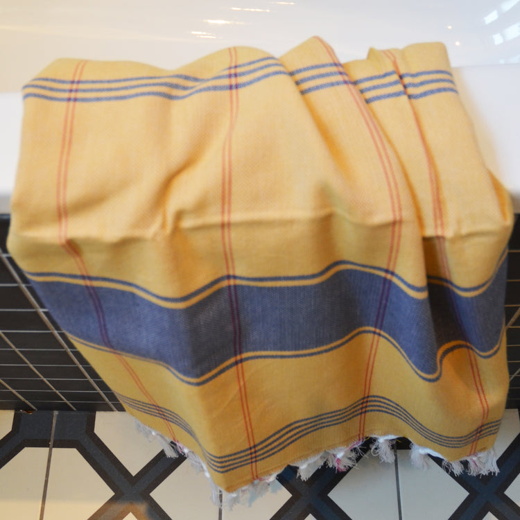 Calvi Hammam _Large Cotton Beach Towel_ yellow