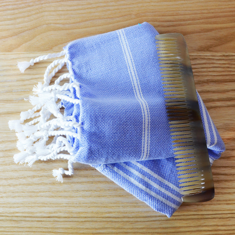 Hammam Cotton Guest Bathrrom Towel- lavender blue