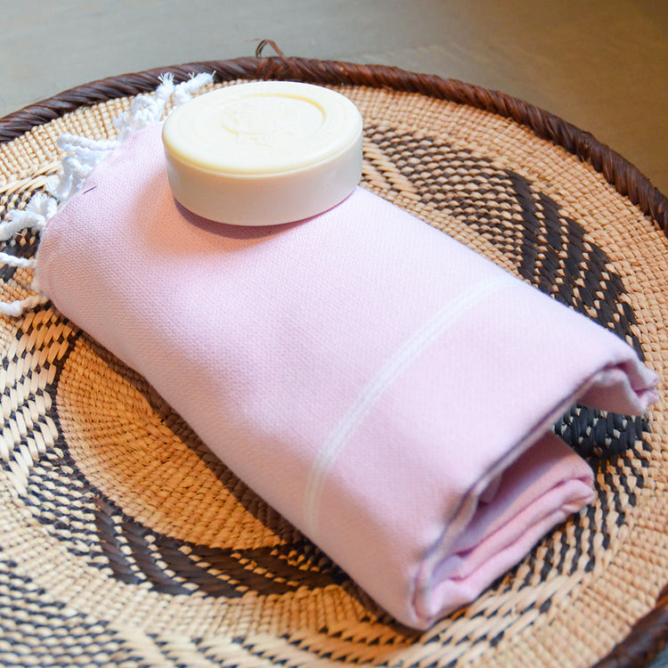 Classic Hammam_ Large  Cotton Beach Towel _ pink