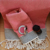 Honeycomb _ Large Cotton Bathroom Towel_coral