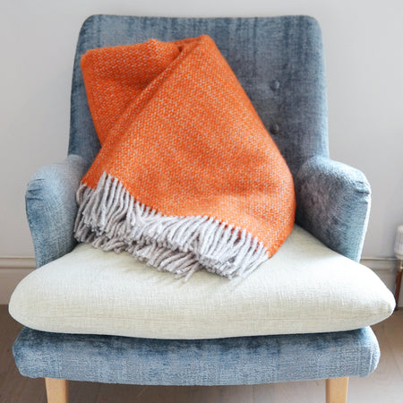 Throw-Wool Autumn Orange