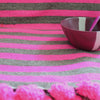 Casta- Lambswool Sofa Throw- Beige and Fuschia