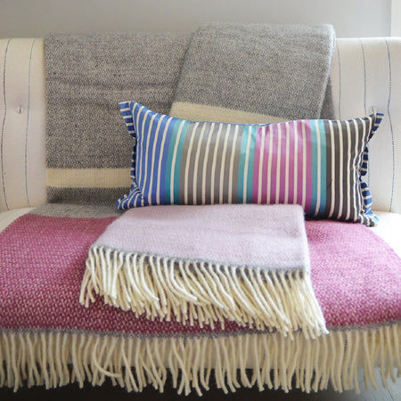 Throw - Stripy Wool