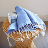 Calvi Hammam _ Large Cotton Beach Towel_ blue